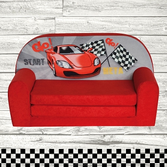 Kindersofa MINI Kindercouch W386_02 Racing Car