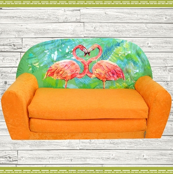 Kindersofa MINI Kindercouch W386_36 Flamingo Orange