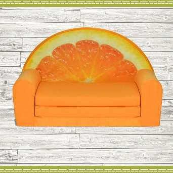 "Kindersofa MINI Kindercouch ""Früchte"" W421_01 Orange"