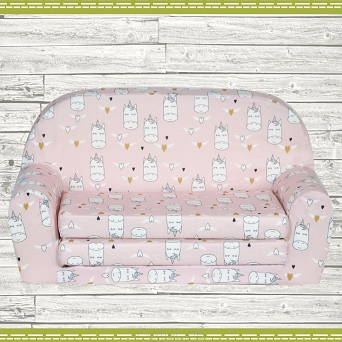 Kindersofa MINI Kindercouch W386_51 Einhorn PINK