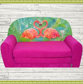 Kindersofa MINI Kindercouch W386_38 Flamingo Pink